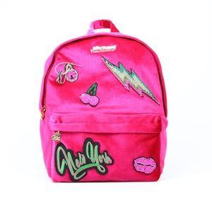 Betsey Johnson Pink Velvet Backpack NWT